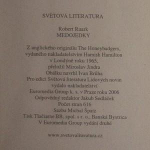 antikvární kniha Medojedky, 2006