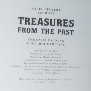 antikvární kniha Treasures from the Past : The Czechoslovak Cultural Heritage, 1992