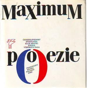 náhled knihy - Maximum poezie. Francouzští básnící poslední doby.