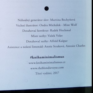 antikvární kniha Minimalismus, 2017