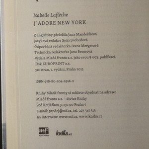 antikvární kniha J'adore New York : román o haute couture a rohové kanceláři, 2013
