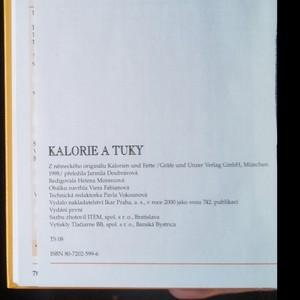antikvární kniha Kalorie a tuky : jak se vyvarovat nadváhy, 2000