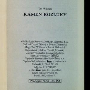 antikvární kniha Kámen rozluky. Kniha druhá, 1997