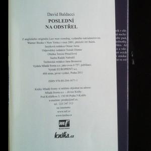 antikvární kniha Poslední na odstřel, 2011