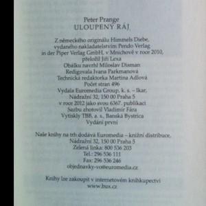 antikvární kniha Uloupený ráj, 2012