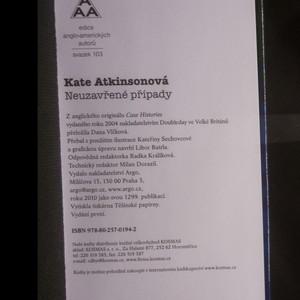 antikvární kniha Neuzavřené případy, 2010