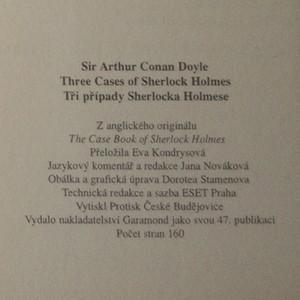 antikvární kniha Tři případy Sherlocka Holmese = Three cases of Sherlock Holmes, neuveden