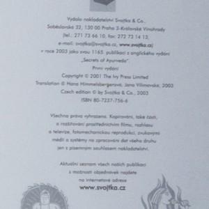 antikvární kniha Tajemství ájurvédy, 2003
