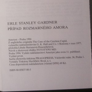 antikvární kniha Případ rozmarného Amora, 1994