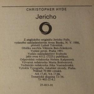 antikvární kniha Jericho, 1991