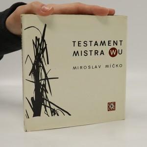náhled knihy - Testament Mistra Wu