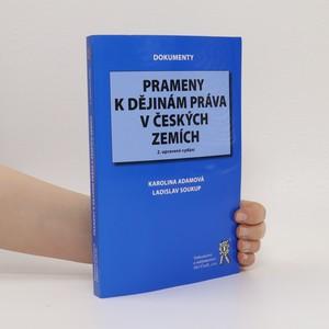 náhled knihy - Prameny k dějinám práva v českých zemích