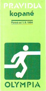 náhled knihy - Pravidla kopané. Platná od 1. 9. 1984.