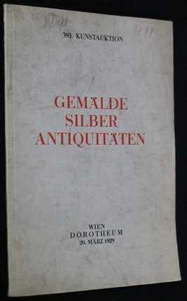 náhled knihy - Gemälde silber Antiquitäten