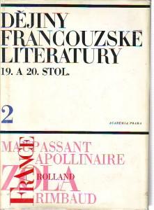 náhled knihy - Dějiny francouzské literatury 19. a 20. století. 2. díl