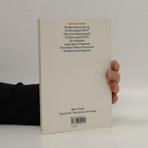 antikvární kniha Strafprozessordnung, neuveden