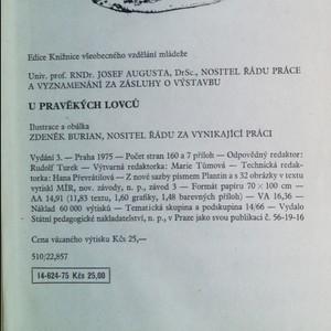 antikvární kniha U pravěkých lovců, 1975