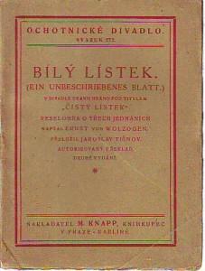náhled knihy - Bílý lístek