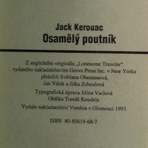 antikvární kniha Osamělý poutník, 1993