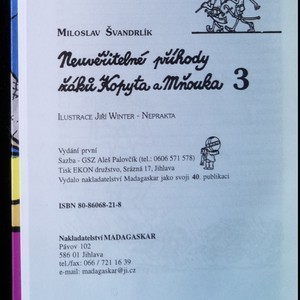 antikvární kniha Neuvěřitelné příhody žáků Kopyta a Mňouka 3, 2000