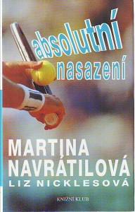 náhled knihy - Absolutní nasazení. Martina Navrátilová.