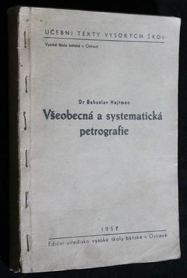 náhled knihy - Všeobecná a systematická petrografie