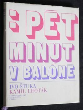 náhled knihy - Pět minut v balóně : verše ke kresbám Kamila Lhotáka