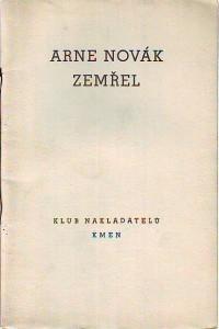 náhled knihy - Arne Novák zemřel