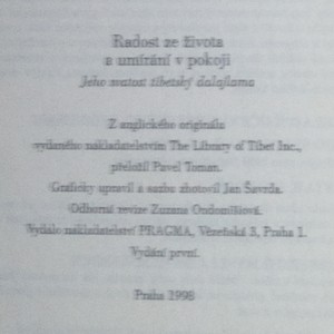 antikvární kniha Radost ze života a umírání v pokoji, 1998