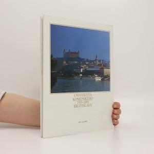 antikvární kniha Univerzita Komenského 1919-1994. Bratislava (slovensky), 1994