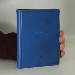 náhled knihy - Kriminalistická příručka. Svazek 1