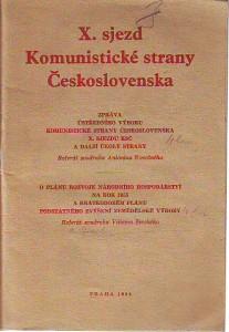 náhled knihy - X. sjezd Komunistické strany Československa