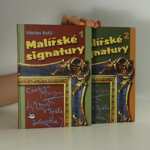 náhled knihy - Malířské signatury 1. a 2. (2 svazky)