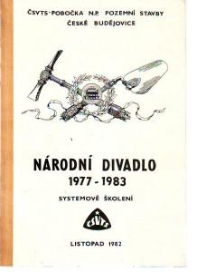 náhled knihy - Národní divadlo 1977 - 1983. Systemové školení o způsobu realizace stavby.