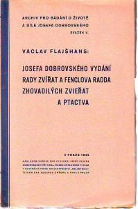 náhled knihy - Josefa Dobrovského vydání rady zvířat a Fenclova radda zhovadilých zvieřat a ptactva