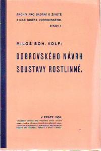 náhled knihy - Dobrovského návrh soustavy rostlinné