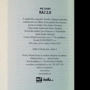 antikvární kniha Ráj 2.0, 2013