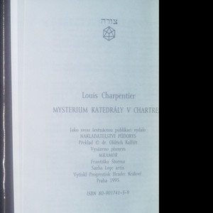 antikvární kniha Mysterium katedrály v Chartres, 1995