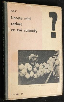 náhled knihy - Chcete míti radost ze své zahrady?