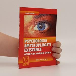 náhled knihy - Psychologie smysluplnosti existence