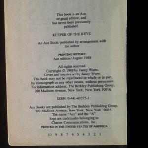 antikvární kniha Keeper of the Keys, 1988