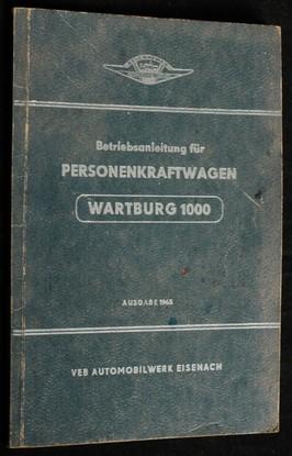 náhled knihy - Betriebsanleitung für den Personenkraftwagen Wartburg 1000