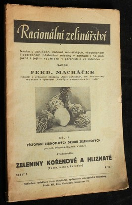 náhled knihy - Racionální zelinářství sešit 2: zeleniny kořenové a hliznaté