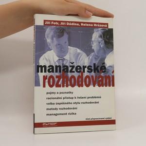 náhled knihy - Manažerské rozhodování