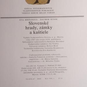 antikvární kniha Slovenské hrady, zámky a kaštiele, 1987