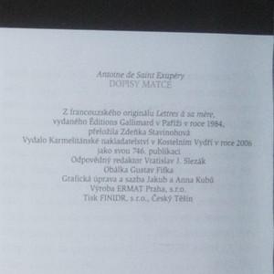 antikvární kniha Dopisy matce : korespondence z let 1910-1944, 2006