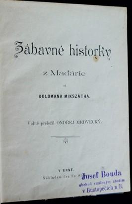 antikvární kniha Zábavné historky z Maďárie, neuveden