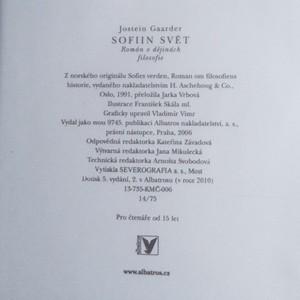 antikvární kniha Sofiin svět, 2006