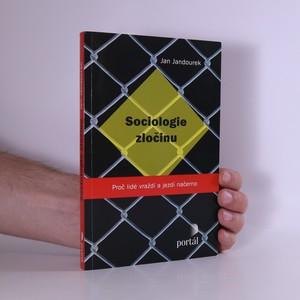 náhled knihy - Sociologie zločinu
