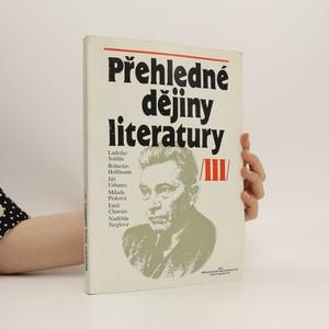 náhled knihy - Přehledné dějiny literatury. 3. díl